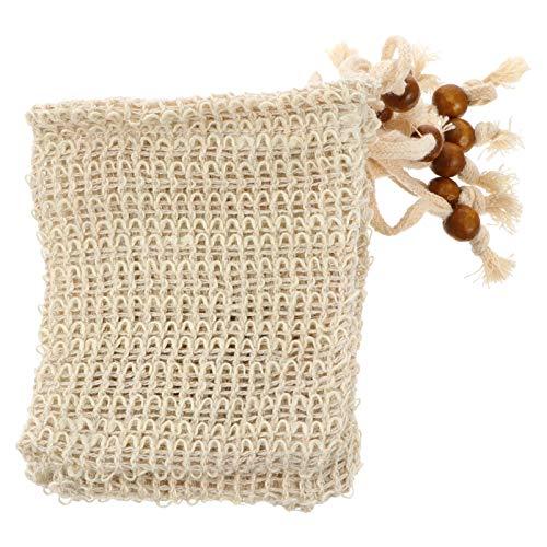 FRCOLOR 10Pcs Peeling Tasche Sisal Mesh Schäumen Trocknen Netto Seife Saver Pouch für Massage Dusche Bad Hautpflege Werkzeug