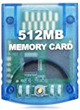 Aisicondan 512MB(8192 Blocks) High Speed Gamecube Storage Save Game Memory Card Compatible for Nintendo Gamecube & Wii Console Accessory Kits - Blue