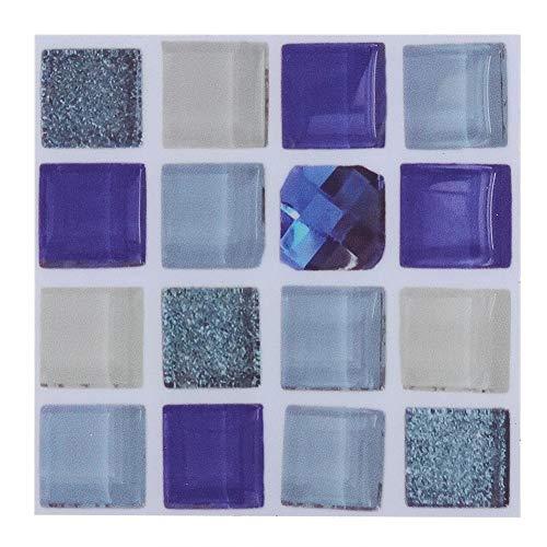 Wifehelper 18pcs Adesivi di Trasferimento della Tessera di Mosaico Adesivi di Piastrelle Autoadesive della Cucina di Casa di DIY (10cm * 10cm)(2#)