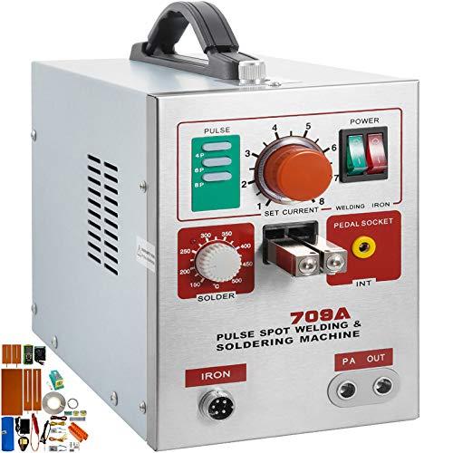 Mophorn 709A Pulse Spot Welder BUNDLE 0.3mm Battery Welding Machine...