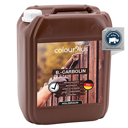 colourPlus® Carbolineum 10L pflanzliche Holzlasur außen - langzeitwetterbeständig - besonders umweltfreundliche Holzlasur aussen - farbbeständige Holzfarbe außen - Made in Germany