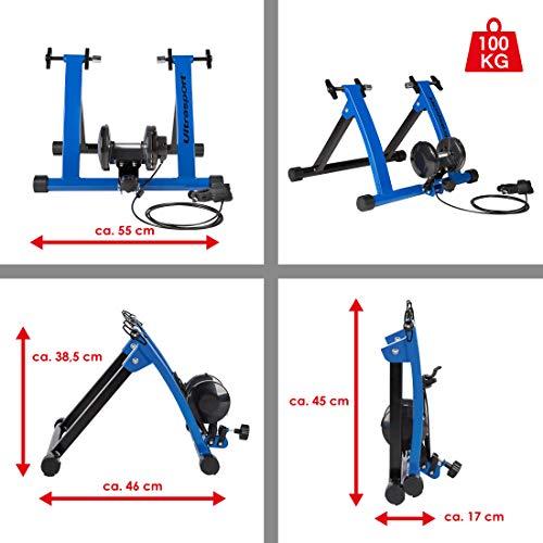 Ultrasport Roller Trainer per Biciclette con e Senza Sgancio Rapido, Capacità di Carico Fino a 100 kg, Il Roller Trainer Permette l'Allenamento in Bicicletta a Casa, Indoor Trainer
