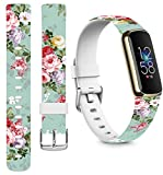 Bands For Fitbit Luxe Silicone Designer & Cisland Durable Design Patterned Print for Women Girls...