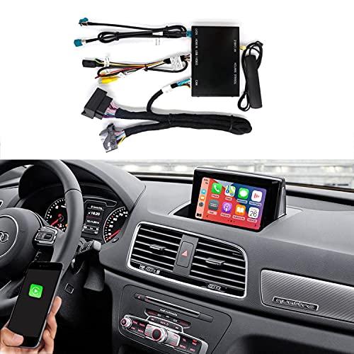 Road Top Wireless Carplay Android Auto Module Caja receptora para Audi Q3 2014-2018 Año con MMI 3G, Decodificador Carplay Retrofit Kit, Soporte Mirrorlin, Cámara de Marcha atrás