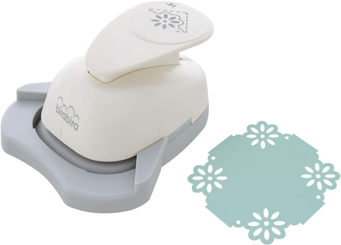 Bira 2 in 1 Border Edge Craft Punch,Valentine\u2019s Day Punch for Scrapbooking Cards Arts Rose-2