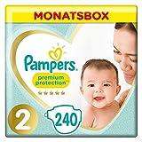 Pampers Premium Protection Windeln, Gr. 2, 4-8kg, Monatsbox (1 x 240 Windeln), Pampers Weichster Komfort Und Schutz