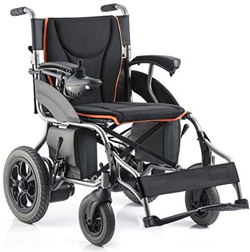 Fangfang Sedia a Rotelle Pieghevole, Sedia a rotelle elettrica Pieghevole Carrozzina Leggera Anziani disabili a Quattro Ruote Automatico Intelligente Potente Motore Doppio for Sedia a rotelle