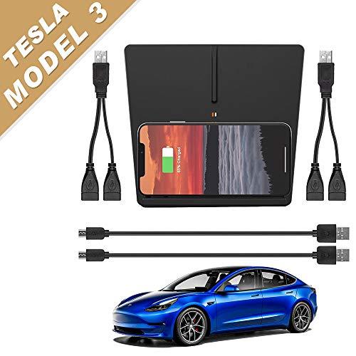 Tesla Modelo 3 Cargador inalámbrico Pad M3 Accesorios, compatible con todos los Tesla Modelo 3 (Nueva Versión)