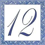 Letrero original con número de calle personalizado a bajo precio en loza de barro: ¡elija su número y el tamaño de su letrero de calle!