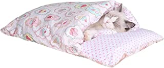 Sleeping Bag for Indoor Cats and Cats, Soft Cat Bed Bed, Warm Pets Cushion Washable Winter Plush KKGGS (Color : F)