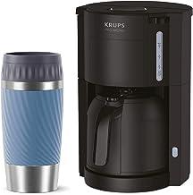 Krups KM3038-1 Filter Kaffemaskin med termokanna Emsa Travel Mug Termosmugg 360 ml blå, kaffeautomat för 10–15 koppar kaff...