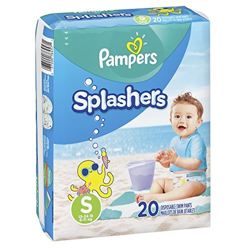 Swim Diapers Size 3 (13-24 lb) - Pampers Splashers Disposable Swim Pants, Small,...