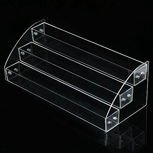 Nagellack Display Ständer, 6 Arten dauerhafte Nagellack Acryl klar Make-up Display-Ständer Rack-Organizer-Halter(Three Layers)