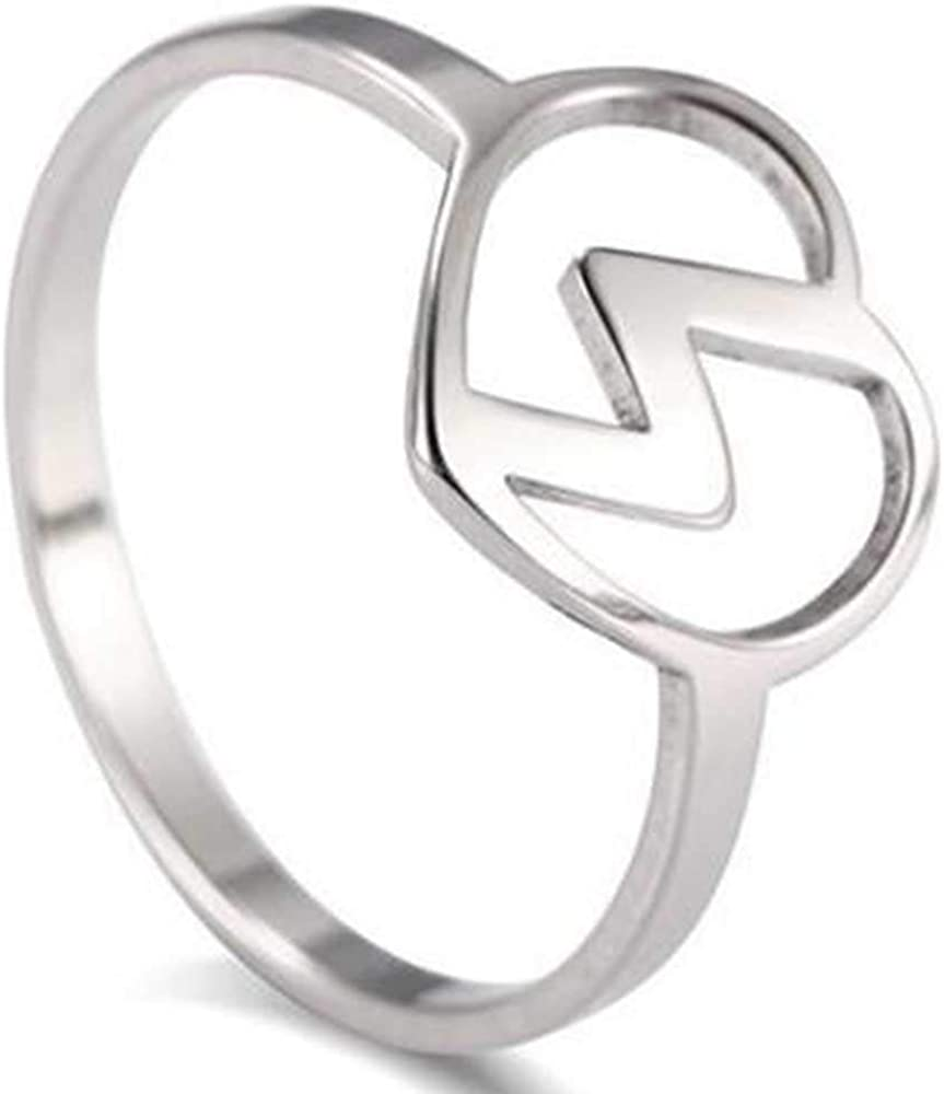 Jude Jewelers Stainless Steel Heart Shaped Thunder Wedding Promise Statement Anniversary Ring
