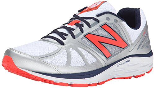 New Balance Men's M770V5 Running Shoe-M, Silver/Orange, 11 D US