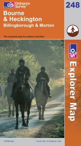 OS Explorer map 248 : Bourne & Heckington