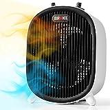 Duronic FH2KW1 Radiateur soufflant et ventilateur | Chauffage électrique portable | Fonction ventilateur pour l'été | 2 Niveaux de puissance | 1200 et 2000 W | Protection anti surchauffe et anti chute