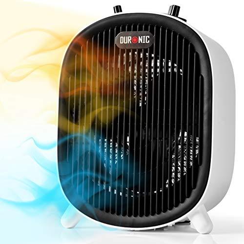 Duronic FH2KW1 Termoventilatore elettrico | Stufa elettrica con termostato 1200W / 2000W...