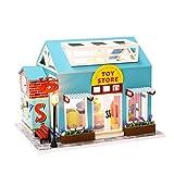 T-XYD Casa de muñecas en Miniatura de Bricolaje Kits de Juegos de Juguetes de Madera en 3D Creative Doll Game House Juguete Educativo para niños con Muebles y luz LED