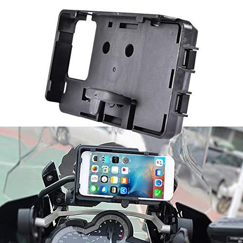globalqi Handyhalter Navigation mit USB Ladegerät für BMW R1200GS LC Adventure F700 800GS CRF1000L, Motorrad Handyhalter Halterung Zubehör für Android und iSO