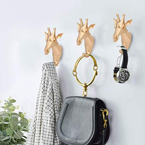 HYZXK Gancho Decorativo Colgante de Pared Toalla Llaves Colgador Resina Estilo Distintivo Forma Baño Toalla de Pared Gancho para Colgar