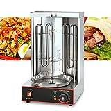3000W Kebab Rack, Verticale Grill, Griglia Elettrica Commerciale, Griglia Elettrica Rotativa, Macchina Kebab Elettrica con 2 Tubi di Riscaldamento 50-300 ℃