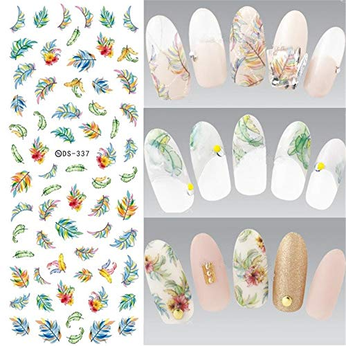 ZJIUYE Autocollant d'ongle Nail Water Transfer Nails Art Autocollant Harajuku Elements Mignon Nail Wraps Autocollant Conseils Astuce Manicura Sticker A