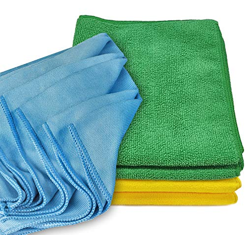 Window Cleaning Cloth, YouCoulee Microfiber Glass Cleaning Cloths 6 Pack, Window Cleaner No Watermarks Lint Free Streak Free, Nontoxic Cleaning with Just Water