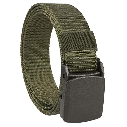 Gelante Military Tactical belt with Nickel Free Plastic Buckle 2030-Olive