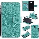Étui pour LG K5 Case, Sun Flower Printing Design PU Leather Flip Wallet Lanyard Housse de...