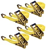 Keeper 04629 25' x 2' Ratchet Tie-Down with J-Hooks, 4 Pack