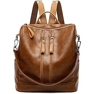 Lamdoo Women Girls Ladies Backpack Fashion Shoulder Bag Rucksack Travel School Bookbag Brown