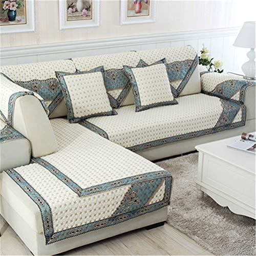 ADGAI Antideslizante Cubierta de sofá, sofá de algodón de Fundas, Fundas de sofá, Protector de mobiliario, para Perros y niños,110 * 160cm
