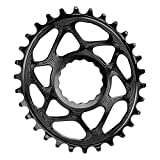 Absolute Black MTB Oval RaceFace Cinch Direct Mount (6 mm de desplazamiento) Negro / 36T