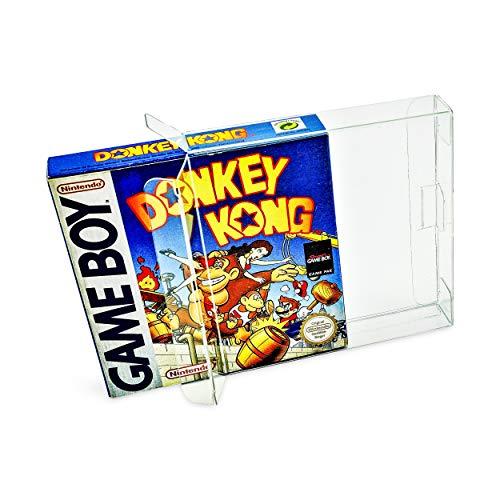 10 x Klarsicht Schutzhüllen für Game Boy Classic Color Advance Virtual Boy 0,5mm Passgenau und Glasklar-PET-Reset Retro Game Protectors-cases-box-Staubdicht-UV-Schutz