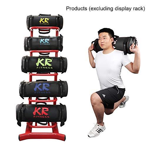 TOPCHANCES 5-30kg Power Bag Weighted Training Sandbag Professional Sandbag Fitness Power Bag Kit for Functional Training Heavy Weight Exercises Lifting Workout, Unisex (Black, 30kg)