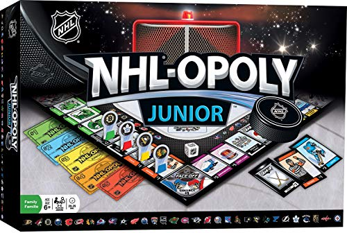 MasterPieces NHL Opoly Junior Board Game for 24 Players Ages 6