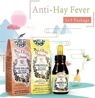 Anti-Hay Fever, Anti Allergy Value Pack - 3 Bottles Apiario Silvestre Brazilian Green Bee Propolis + 3 Bottles Apiario Silvestre Brazilian Bee Pollen