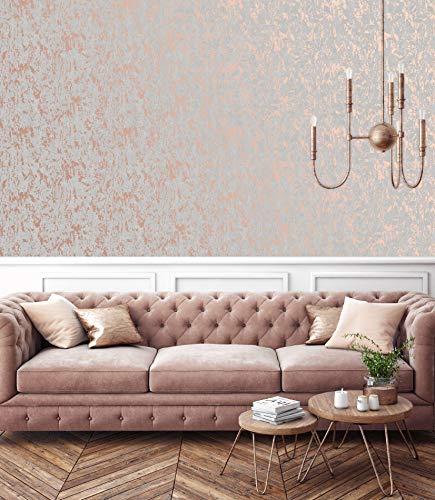 Superfresco Easy - Papel pintado para pared (1000 x 52 cm), color dorado rosa