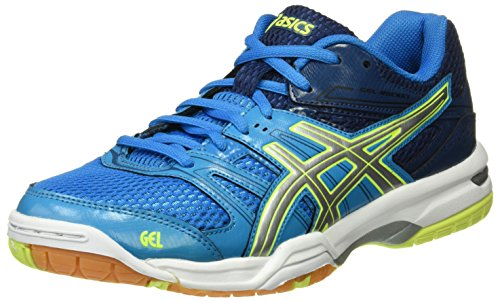 ASICS Gel-Rocket 7, Scarpe da Ginnastica Uomo, Blu (Blue Jewel/Glacier Grey/Safety Yellow), 46 EU