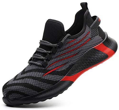 SUADEX 安全靴 軽量 黒 レッド あんぜん靴 スニ一カ一 作業靴 通気性 おしゃれ 工事 現場 靴 作業 通気性 鋼先芯 耐摩耗 防刺 耐滑 アウトドア ワーク シューズ セーフティーシューズ