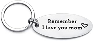 Remember I Love You Mom Stainless Steel Letters Pendant Keychain Key Ring Gift - Silver GlobalDeal