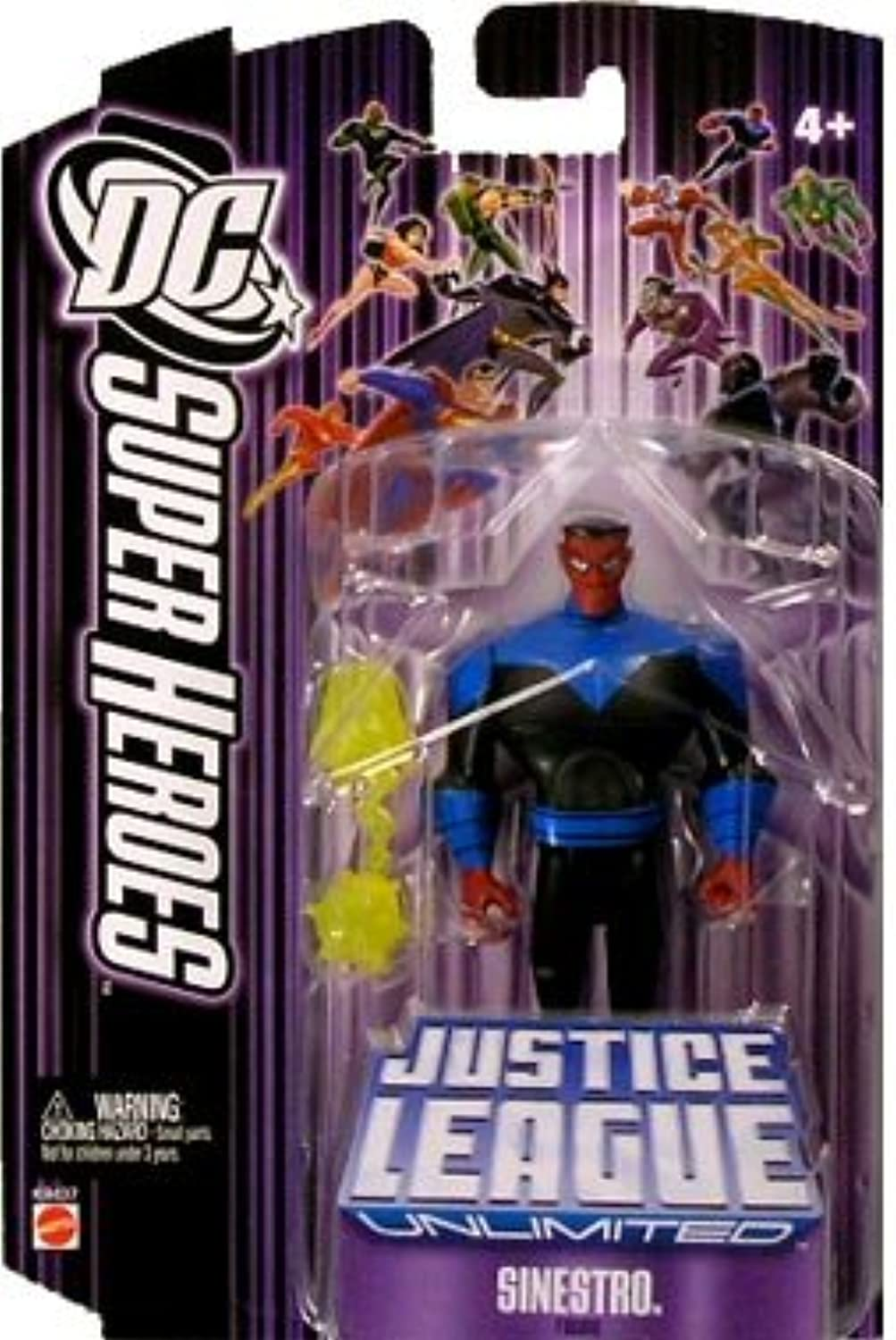 Justice League Unlimited Sinestro Action Figure by Mattel (English Manual)