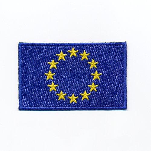 80 x 50 mm Europaflagge EU Flagge Flag Europäische Union Aufnäher Aufbügler 0933 X