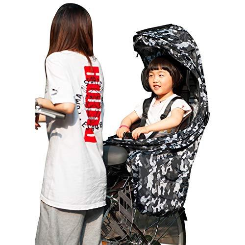 Accesorios del asiento de coche Gran posterior de la bicicleta-montado del asiento de seguridad for niños, con cinta reflectora y cubierta de PVC transparente lluvia, conveniente for la altura: 1,15 m