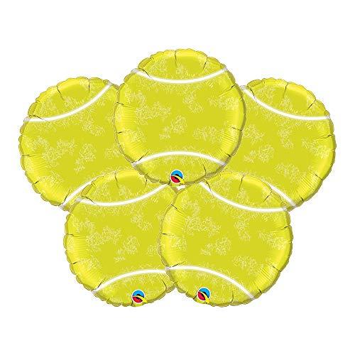 "Set of 5 Tennis Ball Sport 18"" Foil Party Balloons Connecticut"
