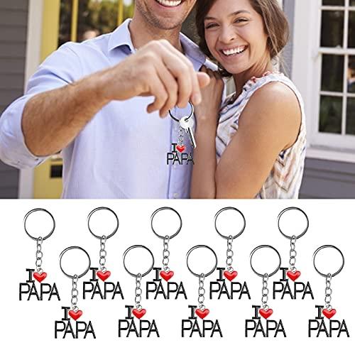 Llaveros Pendientes, llaveros exquisitos de la Forma del corazón Lindo Durable para los Regalos(D110-PAPA)