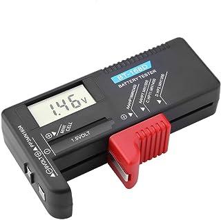 Digital Battery Volt Tester, Universal Digital LCD AA/AAA/C/D/9V/1.5V Button Cell Battery Volt Tester BT-168D, Battery Che...