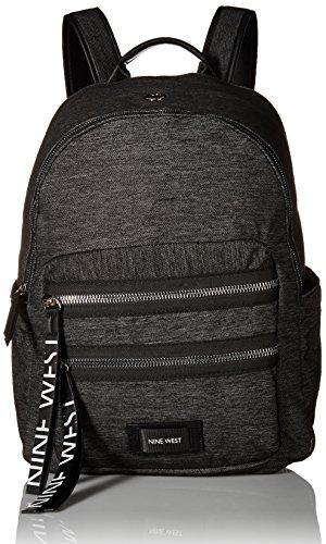 Nine West Damen Backpack Tallis Campus Laptop-Rucksack, Dunkelgrau/Schwarz/Schwarz, Einheitsgröße