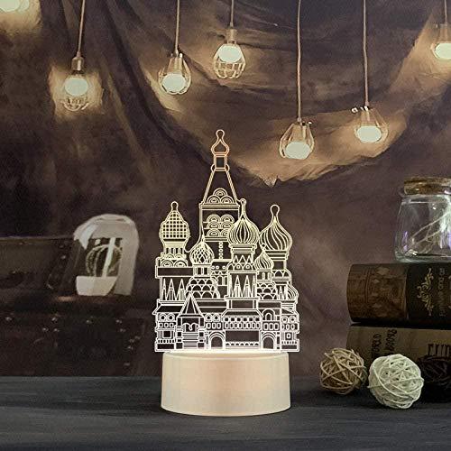 Lámpara de ilusión 3D con sensor táctil, lámpara decorativa regulable, lámpara de noche que cambia de 16 colores con lámpara de noche con control remoto, regalos de cumpleaños para niños y adultos